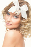Girl with bow on her head Royalty Free Stock Images