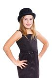Girl in bowler hat Royalty Free Stock Photo