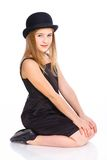 Girl in bowler hat Stock Images