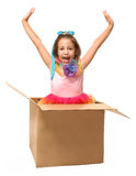 Girl in Box Stock Photography
