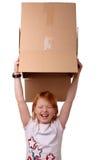 Girl with box Stock Photos