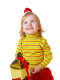 Girl with box Royalty Free Stock Photo