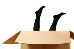 Girl in a box Royalty Free Stock Photo