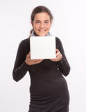 Girl with box Royalty Free Stock Photos