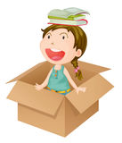 A girl in a box Stock Photography