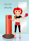 Girl boxe Stock Images