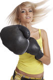 The girl boxer Royalty Free Stock Photography