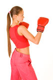 Girl Boxer Royalty Free Stock Photography