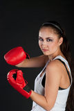 Girl boxer Royalty Free Stock Photo