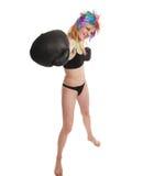 The girl the boxer Stock Photos