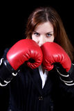 Girl the boxer Royalty Free Stock Photography