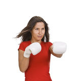 Girl boxing Stock Photos