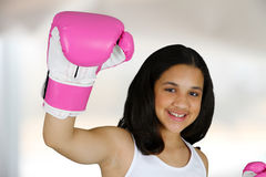 Girl Boxing Royalty Free Stock Image