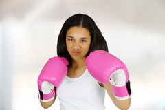 Girl Boxing Royalty Free Stock Photos