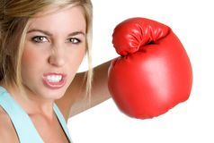 Girl Boxing Stock Image