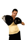 Girl in boxing gloves Stock Photos