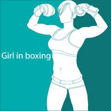 Girl in boxing Stock Photos