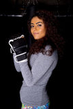 Girl boxing Stock Images