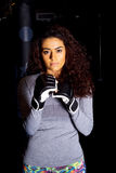 Girl boxing Royalty Free Stock Photography