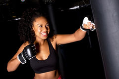 Girl boxing Royalty Free Stock Images