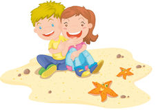 Girl and boy Royalty Free Stock Photo