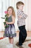 Girl and boy Stock Image
