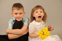 Girl and boy Royalty Free Stock Images
