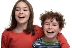 Girl and boy Stock Photos