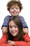 Girl and boy Stock Photos