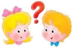 Girl and boy. Clip-art / children's book illustration for your design Stock Photo