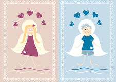 Girl and boy angel Royalty Free Stock Photos