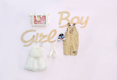 Girl or Boy.Baby shower party Royalty Free Stock Photo