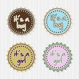 Girl boy badges Royalty Free Stock Photos
