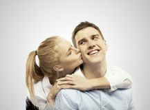 Girl and boy. Beautiful girl and boy love concept Stock Image