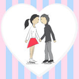 Girl and boy vector illustration