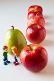 Girl and Boy Discussing Healthy Nutrition Royalty Free Stock Photography