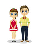Girl and boy friendship. Childhood. Boy and girl. happy kids Stock Images