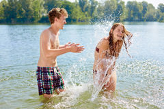 Girl and Boy have fun together II Royalty Free Stock Photography