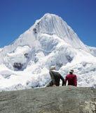Girl and boy in mountain Cordilleras Stock Photos