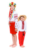 Girl and boy in the national Ukrainian costume Royalty Free Stock Photo