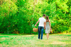 Girl and boy in the park Stock Photography