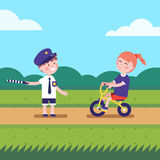 Girl and boy playing games characters Royalty Free Stock Photography