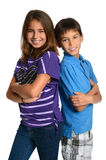 Girl and Boy Posing Together Stock Photo