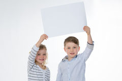 Girl and boy standing together Royalty Free Stock Image