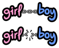 Girl and boy symbol Stock Photography