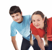 Girl and the boy teenagers Royalty Free Stock Photo