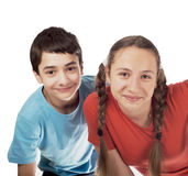 Girl and the boy teenagers Royalty Free Stock Photos