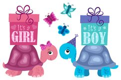 Is it a girl or boy topic 2. Eps10 vector illustration Royalty Free Stock Image