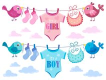 Is it a girl or boy topic 3. Eps10 vector illustration Royalty Free Stock Image