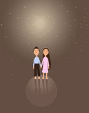 Girl and boy valentine Stock Images